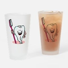 Happy Tooth & Brush Drinking Glass