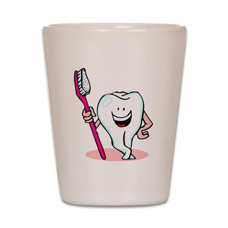 Happy Tooth & Brush Shot Glass