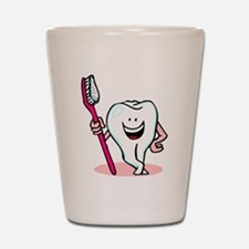 Happy Tooth & Brush Shot Glass