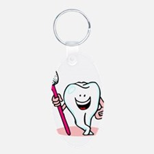 Happy Tooth & Brush Keychains