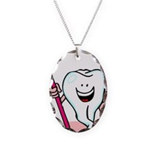 Happy Tooth & Brush Necklace