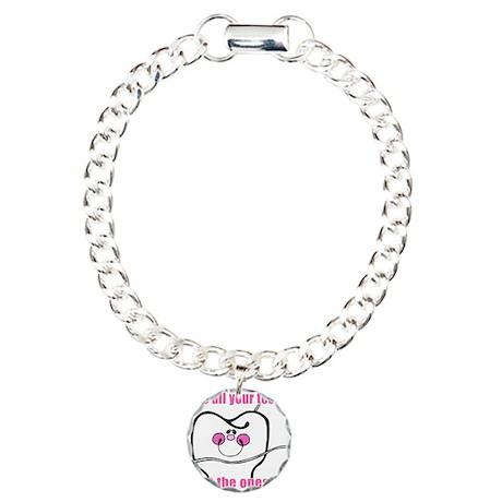 Keep Flossing! Dentist Charm Bracelet, One Charm