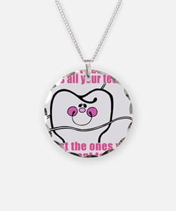 Keep Flossing! Dentist Necklace