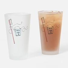 Brush And Floss Dentist Drinking Glass