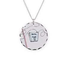 Brush And Floss Dentist Necklace