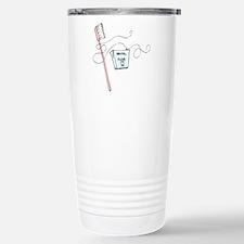 Brush And Floss Dentist Stainless Steel Travel Mug