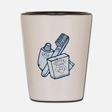 Toothbrush Toothpaste Floss Shot Glass