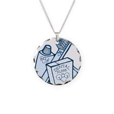 Toothbrush Toothpaste Floss Necklace