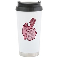 Toothbrush Toothpaste Floss Travel Mug