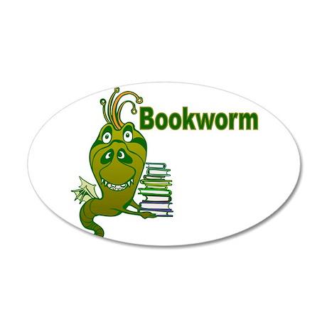 Bookworm 22x14 Oval Wall Peel