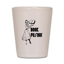 Book Pusher Shot Glass