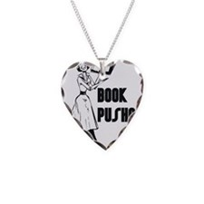 Book Pusher Necklace Heart Charm