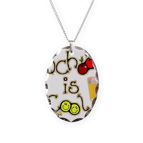 SCHOOL is COOL! Necklace Oval Charm