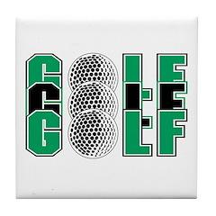 GOLF,GOLF,GOLF Tile Coaster