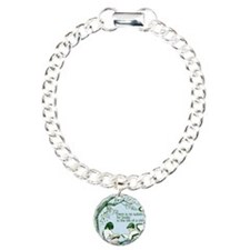No Substitute For Books Charm Bracelet, One Charm