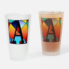Stained Glass Monogram Initia Drinking Glass