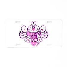 Daddy's Girl Pink/Fuschia Aluminum License Plate