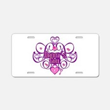Daddy's Girl Pink/Fuschia Aluminum License Plate