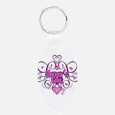 Daddy's Girl Pink/Fuschia Keychains