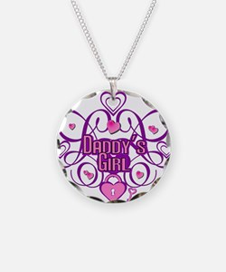 Daddy's Girl Pink/Fuschia Necklace