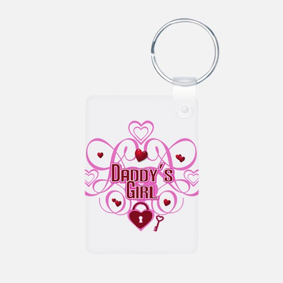Daddy's Girl Pink/Red Keychains
