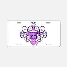 Daddy's Girl Purple/Pink Aluminum License Plate