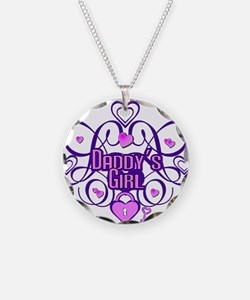 Daddy's Girl Purple/Pink Necklace