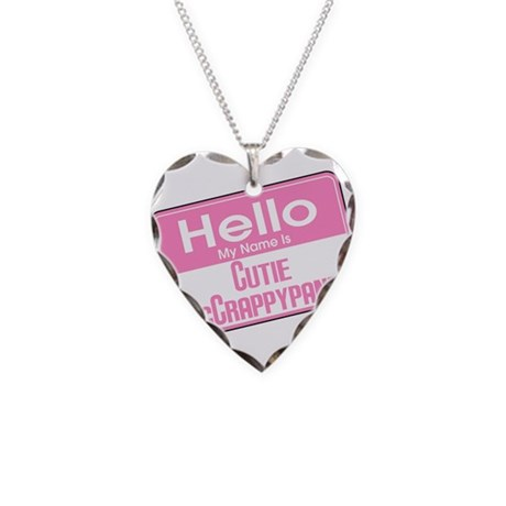 Hello Cutie McCrappypants Necklace Heart Charm