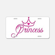 Princess Aluminum License Plate