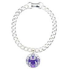 Daddy's Girl Blue/Lavender Charm Bracelet, One Cha