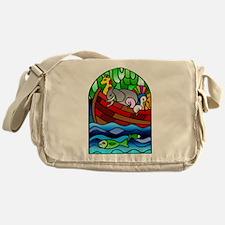 Noah's Ark Stained Glass Messenger Bag