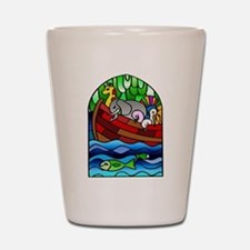 Noah's Ark Stained Glass Shot Glass