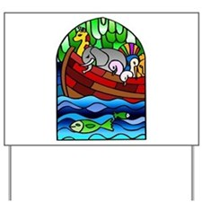 Noah's Ark Stained Glass Yard Sign