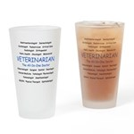 Veterinarian The All-In-One D Drinking Glass
