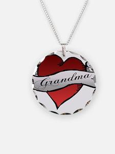 Grandma Heart Tattoo Baby Tat Necklace
