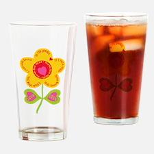 Mom Flower Garden Drinking Glass