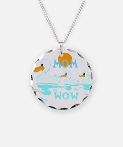 MOM WOW Reflection ducklings Necklace