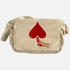 Kicked In The Heart / Butt Messenger Bag