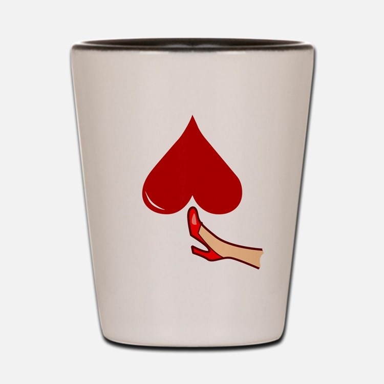 Kicked In The Heart / Butt Shot Glass