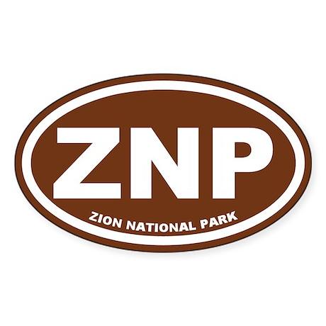 Zion National Park Sticker (Oval)