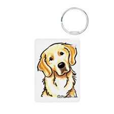 Golden Retriever Portrait Keychains