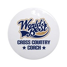 Cross Country Coach Gift Ornament (Round)