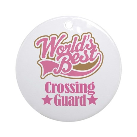 Crossing Guard Gift Ornament (Round)