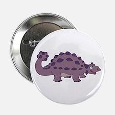 """Cartoon Ankylosaurus 2.25"""" Button"""