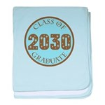 Blue Stars Class of 2030 baby blanket