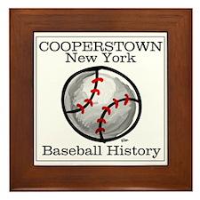 Cooperstown NY Baseball shopp Framed Tile