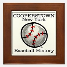 Cooperstown NY Baseball shopp Framed Tile