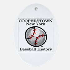 Cooperstown NY Baseball shopp Oval Ornament
