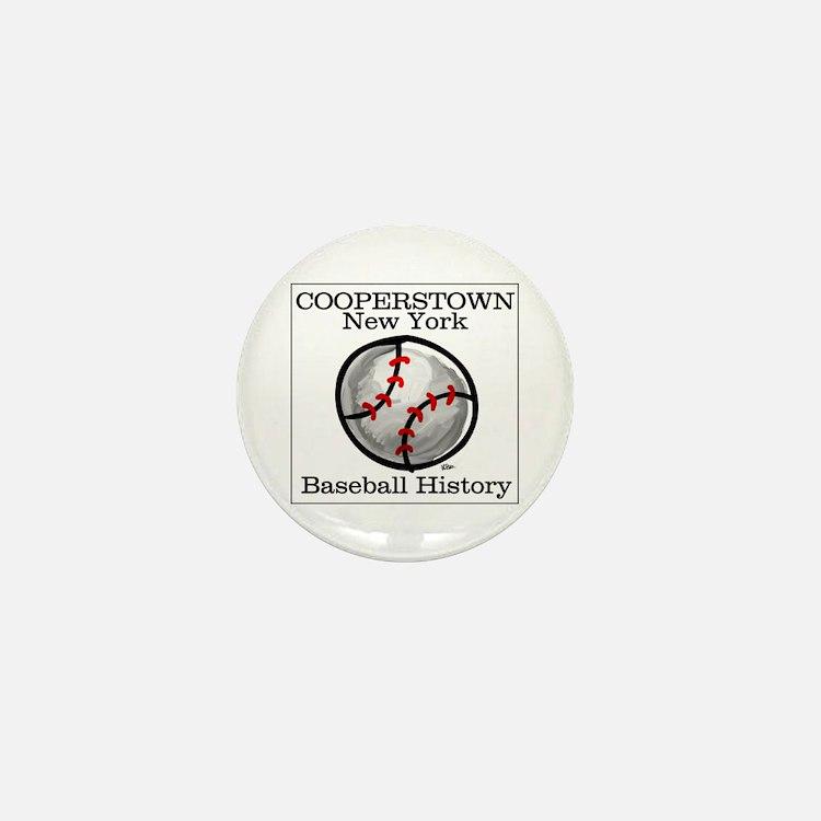 Cooperstown NY Baseball shopp Mini Button