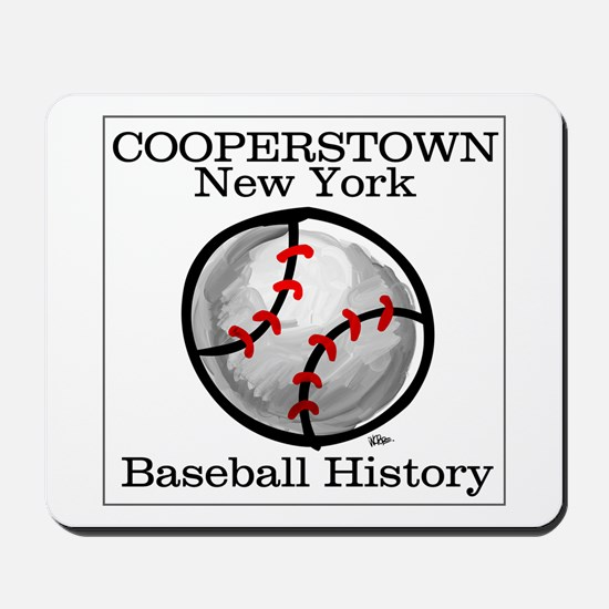 Cooperstown NY Baseball shopp Mousepad